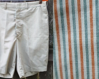 Mens Shorts, 60s Shorts, Jantzen, 60s Costume, Ken Doll Costume, Striped Shorts, Vintage Costume, Vintage Shorts, Shorts Waist 34