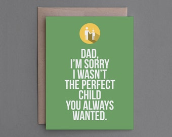 "Funny Father's Day Card. For Dad, Father, Pop. Humor, Humorous, Snarky, Sarcastic, Unique, Hilarious. ""Disappointment"" (CSF01)"