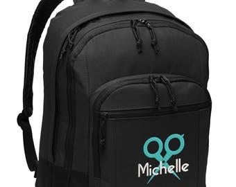 Hair Stylist #3 Personalized Back Pack Embroidered