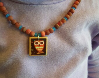 How Now Brown Owl Necklace