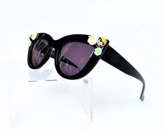 Retro Sunglasses, Cat Eye Sunglasses with Bee