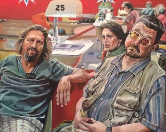 Big Lebowski Bowling Alley Art Prints -Great Gift Idea for The Dude in your crew