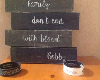 Supernatural wood sign Bobby quote Dean Winchester