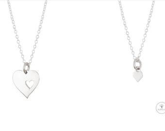 925 Silver mother daughter NECKLACE