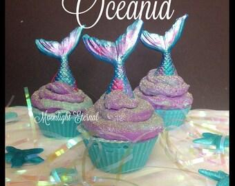 Oceanid Soap Cupcake - Soapy Cupcake - Cupcake Soap - Mermaid Soap - Ocean Scent - Beachy - Artisan Soap - Handmade Soap - With Silk!