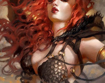 Red Sonja Art Print Poster