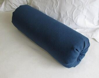 BLUE DENIM  Bolster Pillow 6x14 6x16 6x18 6x20 6x22
