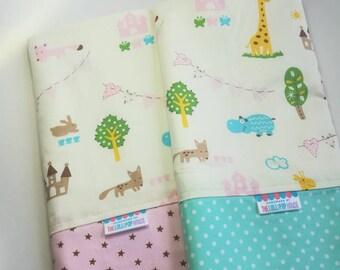 Baby blanket - Flannel Blanket - Baby girl blanket - Swaddle blanket- Security Blanket - stroller blanket - Travel blanket - farm animals