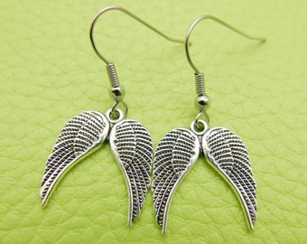 Angel wings Earrings stainless steel