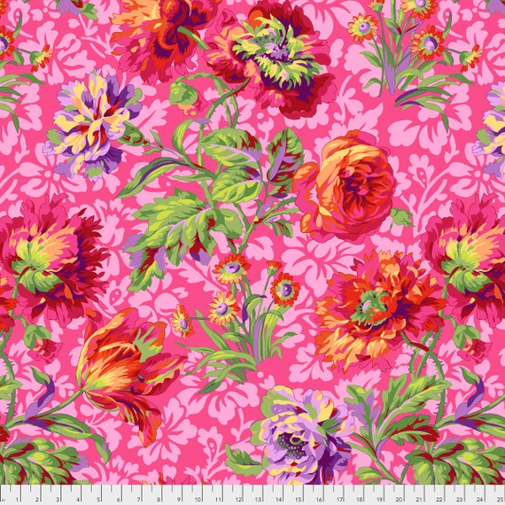 BAROQUE FLORAL Red Philip Jacobs PWPJ090.REDXX Kaffe Fassett Collective Sold in 1/2 yd increments Pre-Order Item