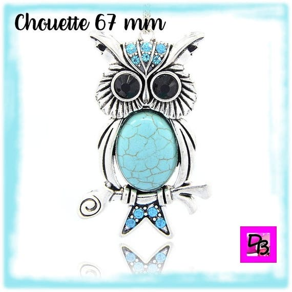 Pendentif Chouette [Turquoise] 67 mm