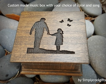 Father's day gift, music box, father of the bride music box, custom made music box, dad, gift for dad, gift for daughter, father's day gift