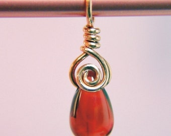 EMBRACE Stitch Marker - Copper and Pomegranate Red - US6
