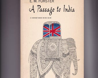 A Passage To India by E M Forster. 1952 Harvest Paperback In Very Good Vintage Condition.