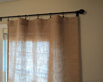 No Odor Burlap Curtains Modern Rustic Window Treatments Custom Size Available Natural Burlap Panels Rustic Home Decor