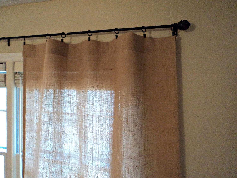 aucune odeur toile de jute rideaux fen tre rustique moderne. Black Bedroom Furniture Sets. Home Design Ideas