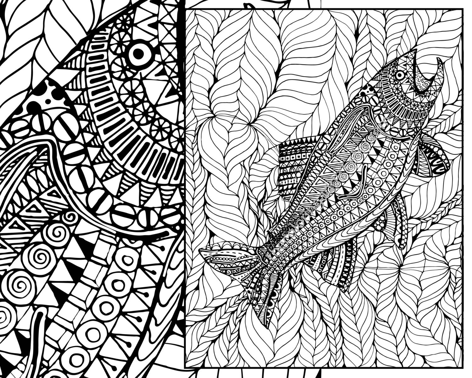 adult coloring page adult coloring sheet ocean colouring