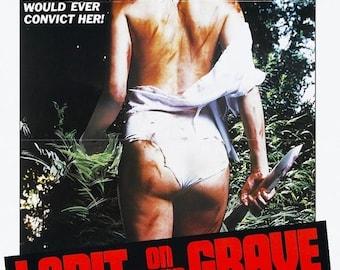 Spring Sales Event: I SPIT On YOUR Grave Movie Poster Rape Revenge Horror Exploitation