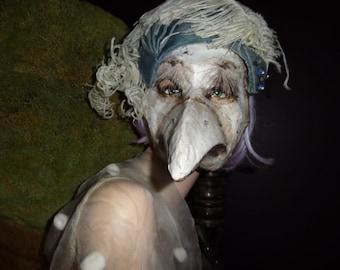 Crow mask Doctor plague mask Masquerade mask Paper mache mask Bird mask Bird costume Halloween mask  Papier mache mask