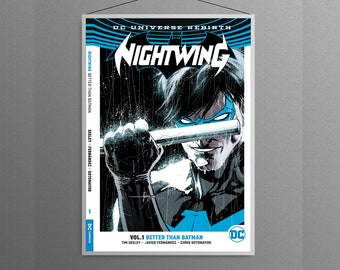 Nightwing DC  Universe   Animated comic book cover home decoration poster