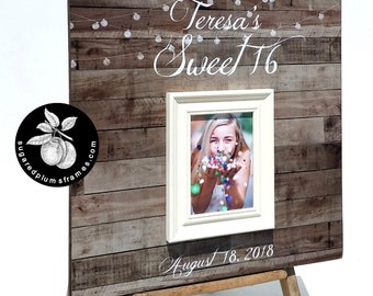 Sweet 16 Guest Book, Sweet Sixteen Party Decoration, Quinceniera, 20x20 The Sugared Plums Frames