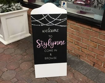 Outdoor shop sign