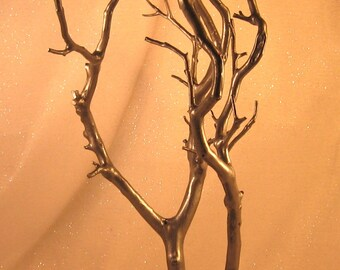 Manzanita Jewelry / Wish / Decor Tree - Hammered Antique Pewter - Ready to Ship