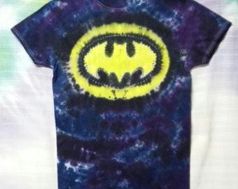 New Tie Dye Sm Batman Super Hero T-shirt