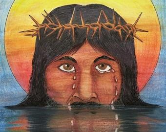 Jesus Cries DRAWING