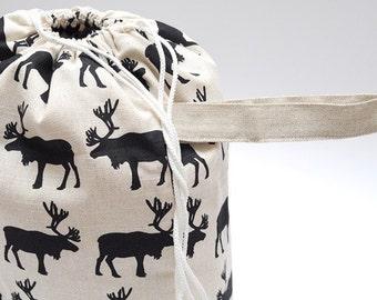 Knitter Project LARGE Bag. NOMADIC ELK.... Special KnitterBag design.