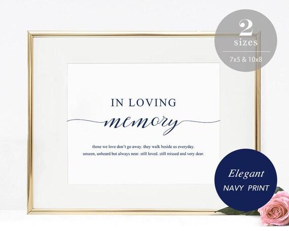 In Loving Memory Sign Template Printable In Memory Sign