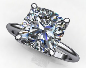 natalie ring - 2.5 carat cushion cut NEO moissanite engagement ring