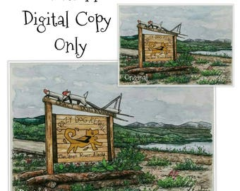 Digital Copies for Book Illustrations, Shop Signs, Small Business Logos, Print Making, etc. Contact for custom quotes.