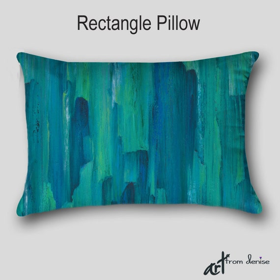 Modern Teal Decorative Throw Pillow : Designer throw pillow Teal turquoise blue green Home decor
