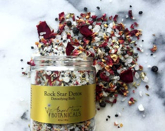 Rock Star Detox Detoxifying Bath Salts Deluxe Travel/ Trial Size 3.7 oz