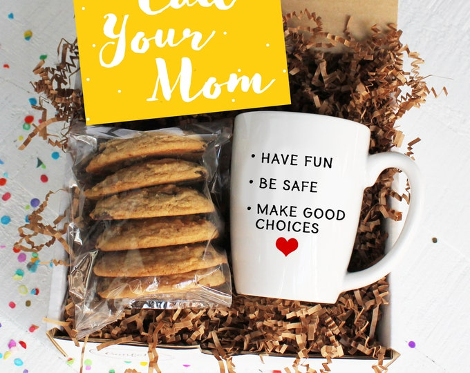 Good Advice Gift Box - Gift for Student | College Care Package | Back to School | Have Fun Be Safe Make Good Choices | Mug | Gift FROM Mom