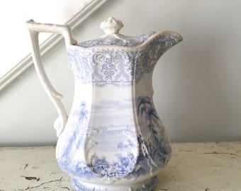Vintage Ironstone Coffee Pot