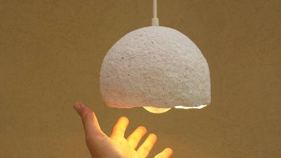 Pappmaché hängende Lampe aus Pappmaché Lampenschirm Papier