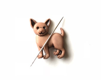 Chihuahua Needle Minder, Chihuahua Needle Keeper, Needle Nanny, Dog, Magnetic Needle Minder, Puppy Needle Keeper, Sewing, Embroidery
