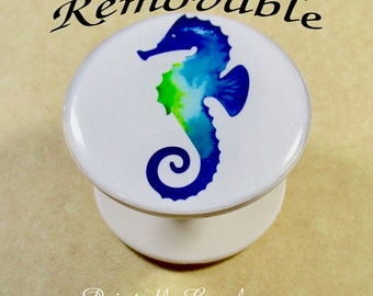 Seahorse Cell Phone Grip Skin, Seahorse Phone Stand Decal, Seahorse Phone Holder Skin, Seahorse Gifts, Beach Gifts, Gifts with Seahorse