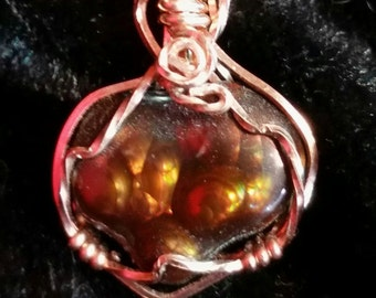 4236 Fire Agate (Heart on Fire) Necklace
