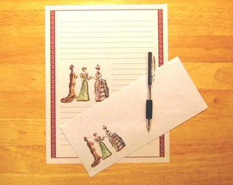 Classically Beautiful Victorian Ladies - Stationery Set With Envelopes - Snail Mail - Pen Pal Letters - Stationary Writing Paper