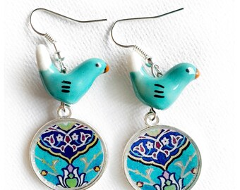 Beheshteh / Neeki two sided Persian tile design Earrings