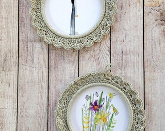 Two small frames to crochet for child's room