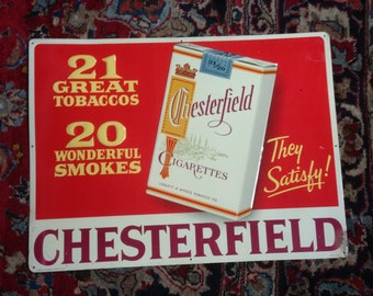 Chesterfield Cigarette Advertising Tin Litho