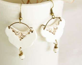 Stamped earrings - Ophelia Collection