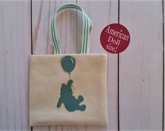 Book tote,18 inch doll bag,Doll purse,Bear tote for dolls