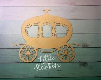 Princess Carriage Laser Cut Wood Blank / DIY / Unfinished