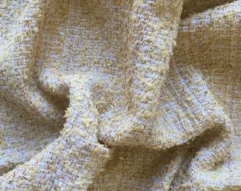 Cotton and 50cm x 150cm - Haute Couture lurex Tweed