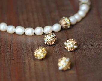Pearl Encrusted Rondelle Bead
